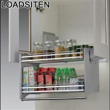 Gabinete Rangement кладовая сушилка для посуды Cestas Corredera из нержавеющей стали подвесной кухонный Органайзер Cozinha кухонный шкаф корзина