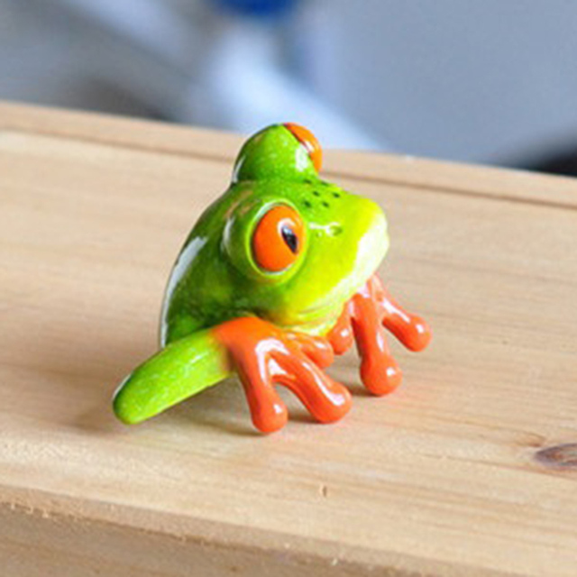 Creative 3D Craft Frog Figurine Decoration Ornament Statue Home Garden Decor Desk Table Shelf Figurines Kids Toys Gift 5