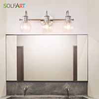 Wall Lighting Bath Vanity Light Brushed Nickel Wall Decor Bathroom Light Fixtures