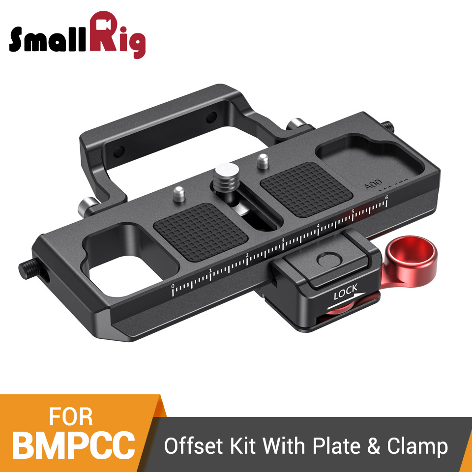 SmallRig Offset Kit With Quick Release Plate And Clamp for BMPCC 4K & 6K/Ronin S/ Crane 2/Moza Air 2 Plate Kit - 2403(China)