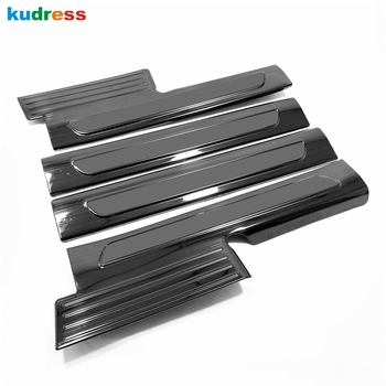 For Hyundai Santa Fe 2019 2020 Auto Accessories Stainless Steel Inner Door Sill Pedal Scuff Plate Protector Car Sticker Styling