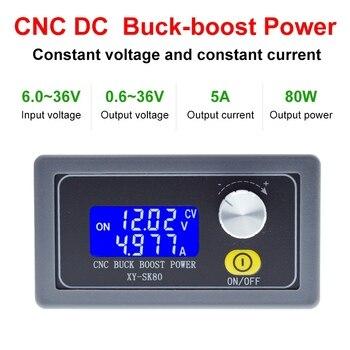 SK80 DC Buck Boost Converter CC CV 0,6-36V 5A módulo de alimentación regulada ajustable fuente de alimentación de laboratorio variable 5V 12V 24V