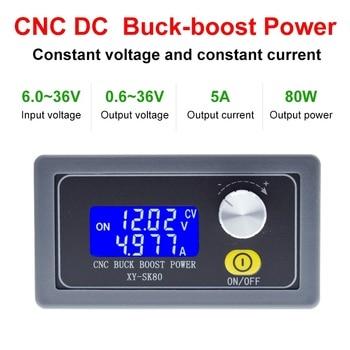 SK80 DC DC Buck Boost Converter CC CV 0.6 36V 5A Power Module Adjustable Regulated laboratory power supply variable 5V 12V 24V|Integrated Circuits|   -