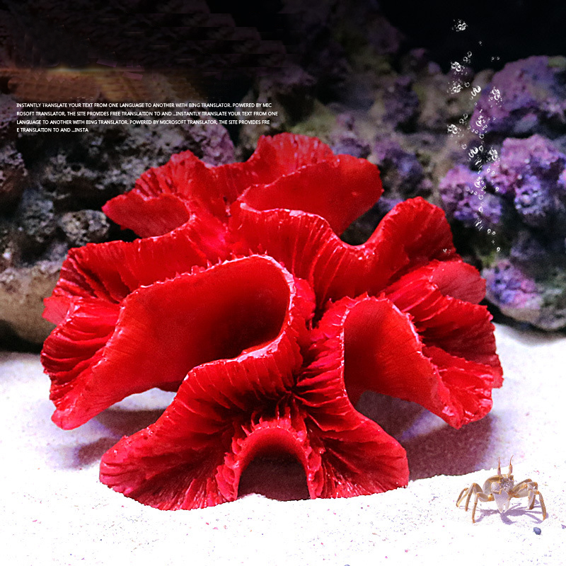 Mini Artificial Coral Fish Tank Decoration Resin Reef Ornament Aquarium Landscaping Decor