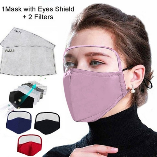 1pcs Reusable Washable Breathable Face Mask Cycling Running Facemask Anti Dust Windproof Air Purifying Face Mask +2 Filter 2