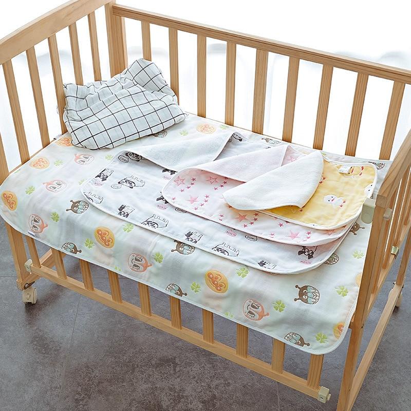 Newborn Baby Urine Mat Waterproof Nappy Changing Pads Covers Stroller Baby Urine Pad Pram Bed Reusable Sheet Mat 30*45cm Cotton