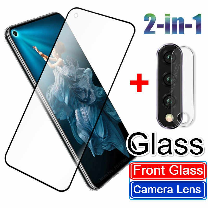 2 in 1 Camera Lens Protector Tempered Glass for Huawei P20 P30 Nova 5 5i Mate30lite Honor 20 Pro 10 9 Lite 9X 8X 8C 8A Case Film