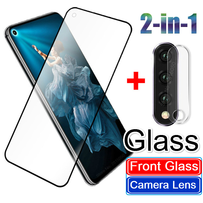 2 in 1 Camera Lens Protector Tempered Glass for Huawei P20 P30 Nova 5 5i Mate30lite Honor 20 Pro 10 9 Lite 9X 8X 8C 8A Case Film(China)