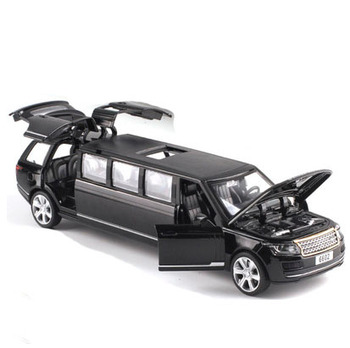 LENGTHENED 1:32 DIECAST CAR MODEL TOYS STRETCH LIMOUSINE WITH PULL BACK SOUND LIGHT FOR KIDS TOYS FREE SHIPPING