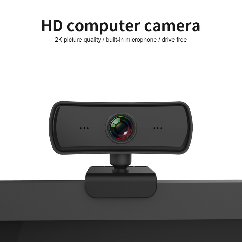2K 2560X1440P Webcam HD Computer PC WebCamera Built-in Mic Rotatable Cameras for Live Broadcast Video Calling Conference Work
