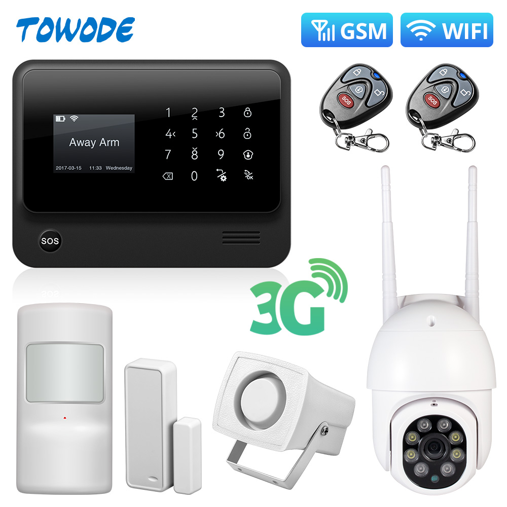 Towode Alarm Systems Security Home G90B Plus 3G GSM WIFI APP Smart Remote Control Fire House Alarm System with IP Alarm Host