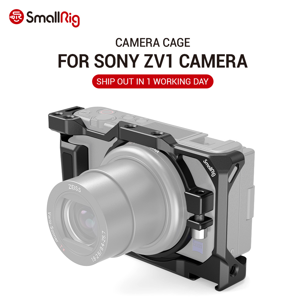 SmallRig ZV1 Camera Cage for Sony ZV1 Camera Vlogging Camera Rig Light Weight Can attach with Tripod for Vlog Video 2938