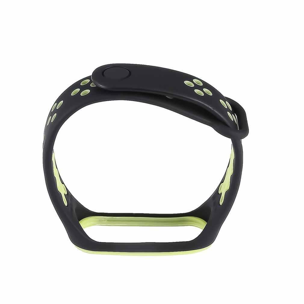 ل Xiao mi mi الفرقة 4 استبدال الرياضة سيليكون حزام معصمه سوار الموضة اثنين من لهجة استبدال حزام
