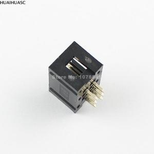 Image 5 - 100 Chiếc 2.54Mm 2X3 Pin 6 Pin Nam Khâm Liệm PCB Hộp Đầu IDC Ổ Cắm