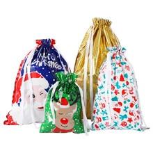 30PCS Weihnachten Kordelzug Geschenk Taschen Assorted Bunte Party Favors Wraps Geschenk Verpackung Taschen Goodie Bags Für Geburtstag Weihnachten