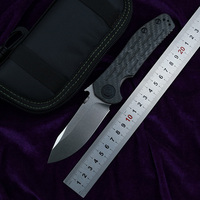 LEMIFSHE ZT0630 folding knife D2 blade carbon fiber + titanium alloy handle camping outdoor multi function hunting EDC tool