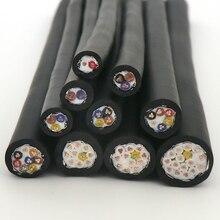 Câble de remorquage blindé, câble de remorquage haute flexibilité, 2,3,4,5,6,8,10,12,16 noyaux, 0.3, 0.5 ,0.75,1,1, 22,20, 5 mm², 18,17,16 AWG