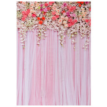 Photo Studio Background Cloth 3D Flower Floral Photography Backdrop Wall Props 90x150cm (812) A30(China)