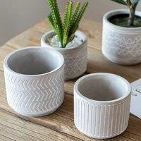 Plantes succulentes créatives pots de fleurs pots de ciment moule étoile flèche conception deux tailles de pots de béton décoratifs bricolage pot silicone moule