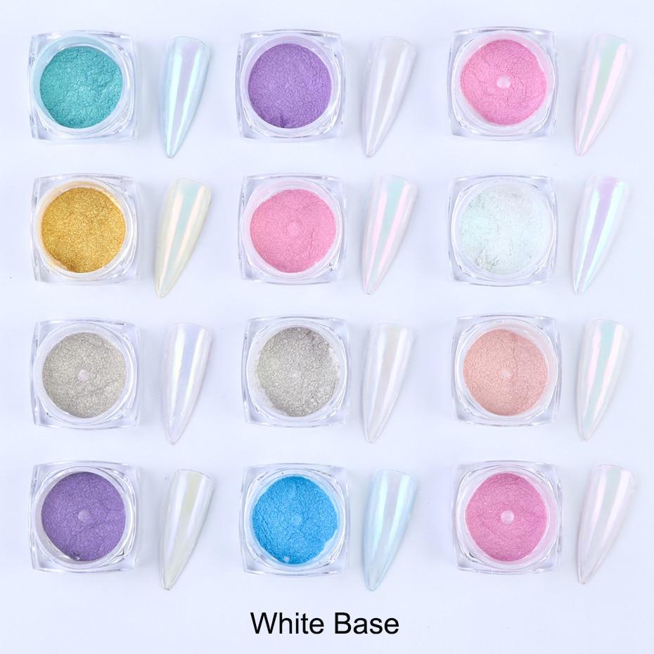 0.5g Mirror Nail Glitter Powder Transparent Ice Nude Chameleon Dust UV Gel Pigment Aurora Powder Nail Art Decorations BEJK01-12 (4)