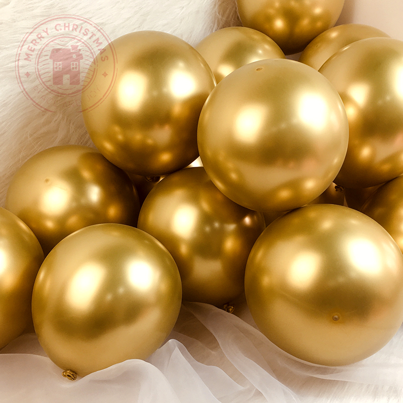5-18inch Giant Chrome Metal Balloon Party Decoration Latex Balloons Metallic Gold Silver Festival Wedding Scene Layout Supplies
