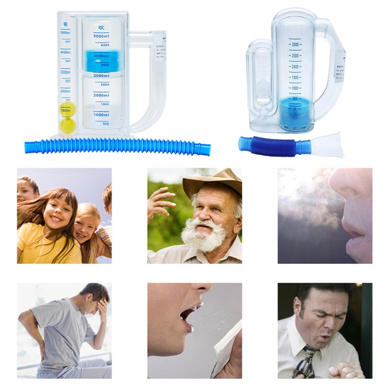 Vital Capacity Respiratory Exerciser/Breathing Trainer for Lung Function