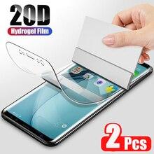 Película protectora de hidrogel suave para móvil, película protectora de pantalla Ultra para Samsung Galaxy S20, S10, S8, S9 Plus, Note 20, 10, 9 Plus, S20, S10, 5G, 2 uds.