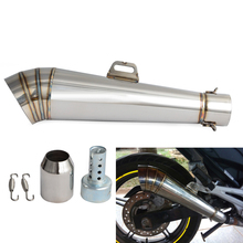 For GP Exhaust Pipe Slip-On z800 cbr300r Z1000 GSXR1000 For MP Exhaust Motorbike 36-51mm Universal Motorcycle Exhaust Muffler цена