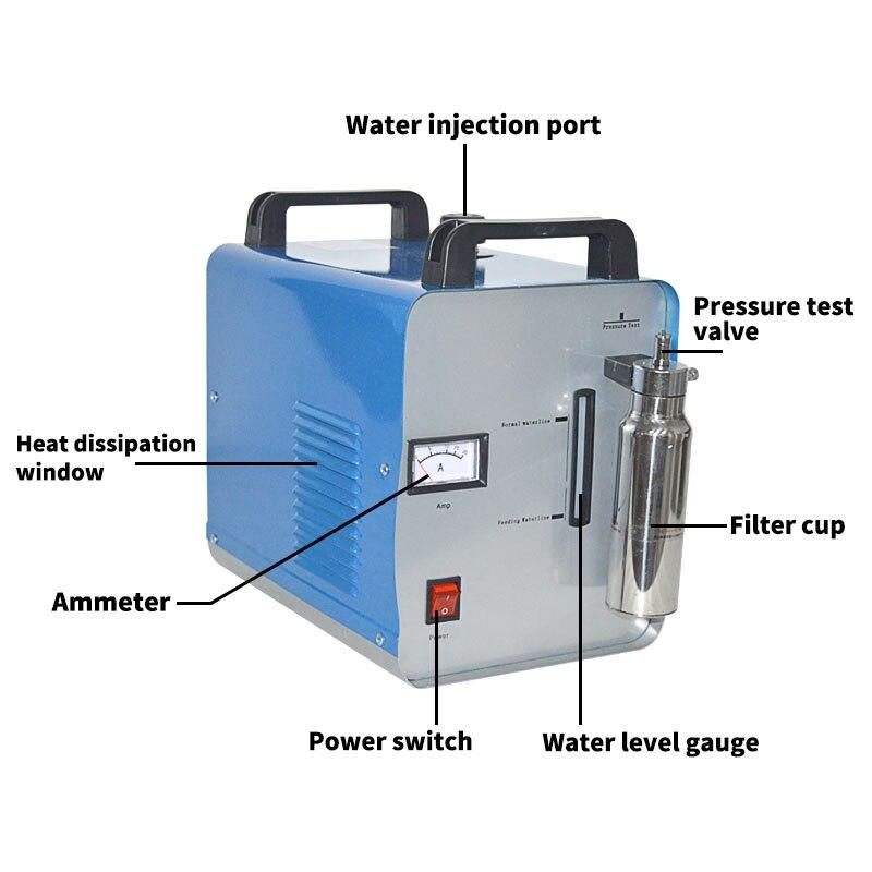 75L/H akrylowa szlifierka płomieniowa H160 akrylowa polerka HHO generator wodoru maszyna kryształowa szlifierka 220 V/110 V