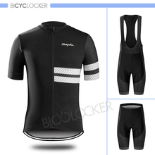 Raphaing Cycling clothing Men Short sleeve clothes Bike Jersey Set Cycle suit Mtb Road Bib shorts Gel Padded Roupa Ciclismo
