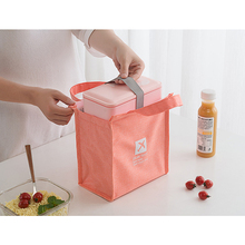 WULI SEVEN New Fresh Insulation Cold Bales Thermal Oxford Lunch Bag Waterproof Convenient Leisure Cute Solid Tote
