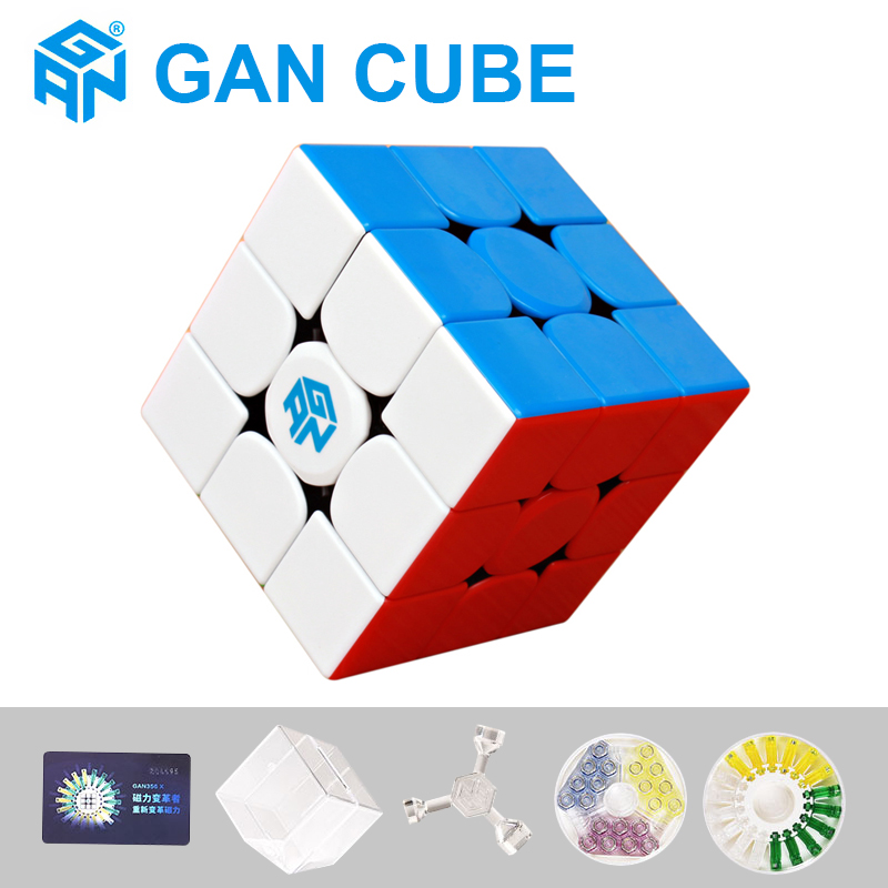 New GAN356 R S 3x3x3 Magnetic Magic Speed Cube GAN 356 X Professional Puzzle Cubes Gan354 M Magnets Cubo Magico Gans Cube 3x3X3