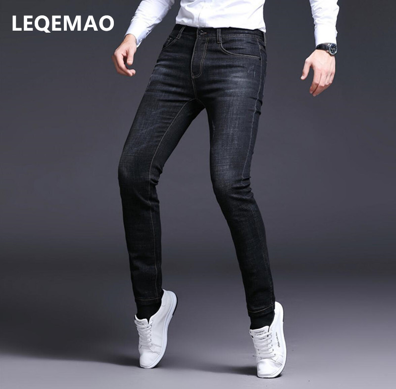 New 2019 Men's Straight Loose Large Size Casual Pants Trousers Fashion Stretch Men's Jeans P0018-01-30