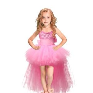 Image 3 - Halloween Unicorn Princess Dress Birthday Party Cosplay Angel Dresses Children Mesh Tutu Skirt Pink Lace Sling Costume for Girls