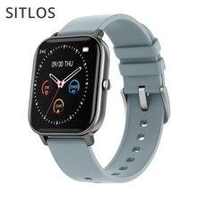 SITLOS P8 IPX7 Relógio Inteligente Homens Mulheres À Prova D' Água Multi-modo Esporte Heart Rate Monitor de Pressão Arterial para iOS Android