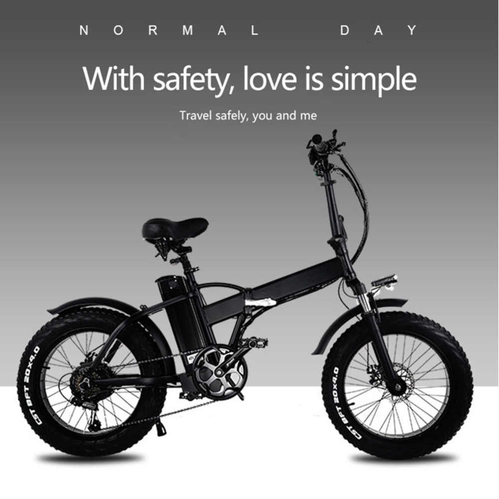 20 inch electric bicycle 48V15A electric ATV folding electric snowmobile lithium battery power mountain bike