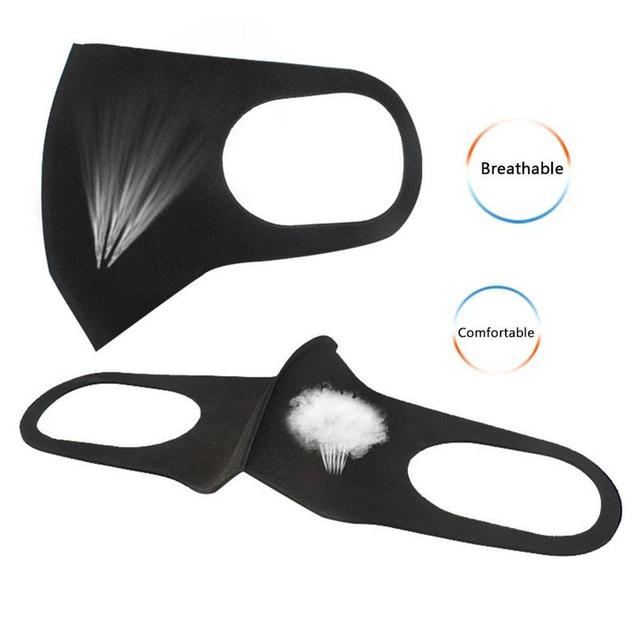Fashion Nano-polyurethane Black Mouth Mask Anti Dust Mask Activated Carbon Windproof Mouth-muffle Bacteria Proof Flu Face Masks 3