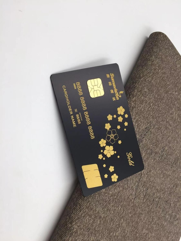 (10pcs/lot)4442 Or 4428 Matte Black Contact Chip Cards