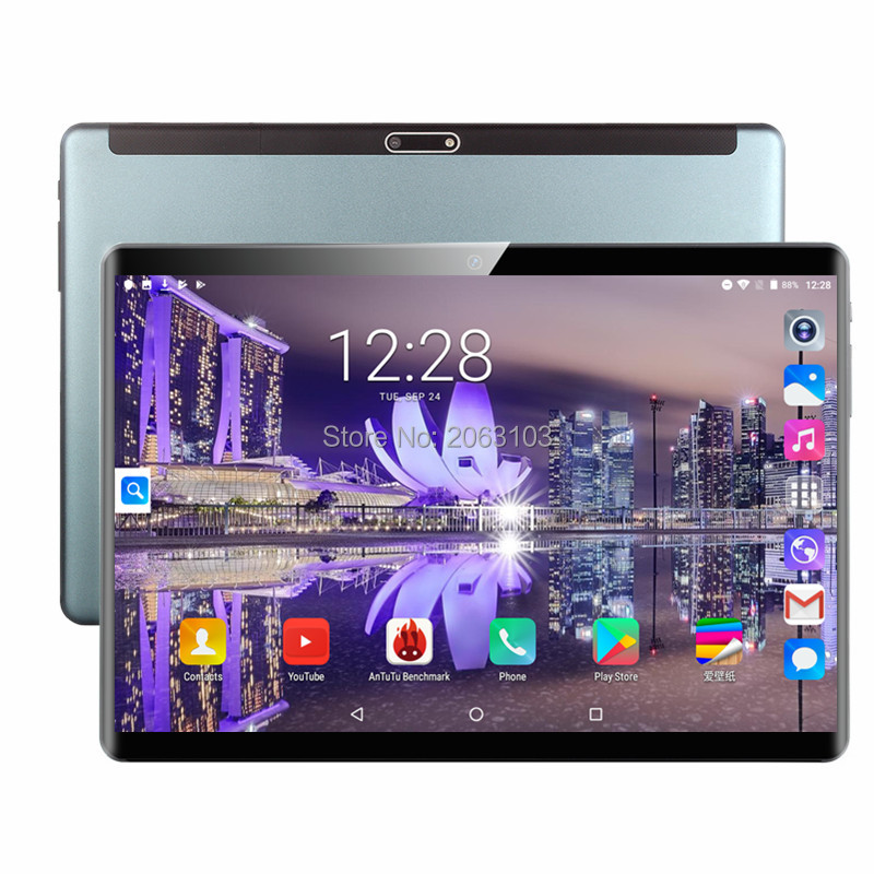2020 Free Shipping Android 9.0 Tablet PC Tab Pad 10 Inch IPS 8 Core 6GB RAM 64GB ROM Dual SIM Phone Call 10.1