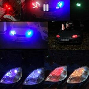 Image 4 - 2 Chiếc T10 W5w LED RGB Bóng Đèn 12SMD COB Xi Nhan Canbus 194 168 Xe Ô Tô Điều Khiển Từ Xa Flash/Nhấp Nháy Đọc Sách nêm Đèn Giải Phóng Mặt Bằng Đèn