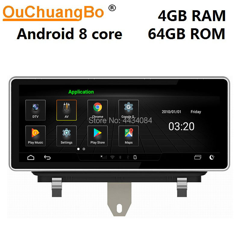 Ouchuangbo <font><b>10.25</b></font> <font><b>inch</b></font> car audio player gps navi <font><b>radio</b></font> for Q3 2011-2018 support 8 cores 4+64 1080P <font><b>android</b></font> 9.0 OS free map image