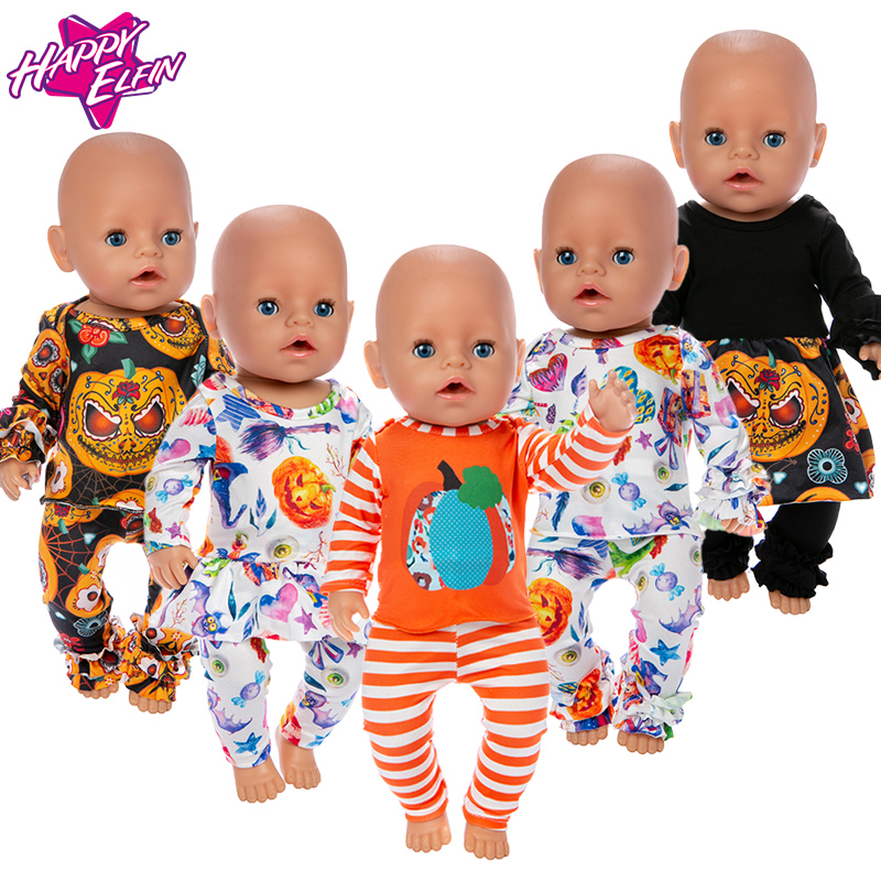 2019 New Lovely Halloween Clothes Fit For 43 Cm Baby Doll 17inch Reborn Doll Accessories