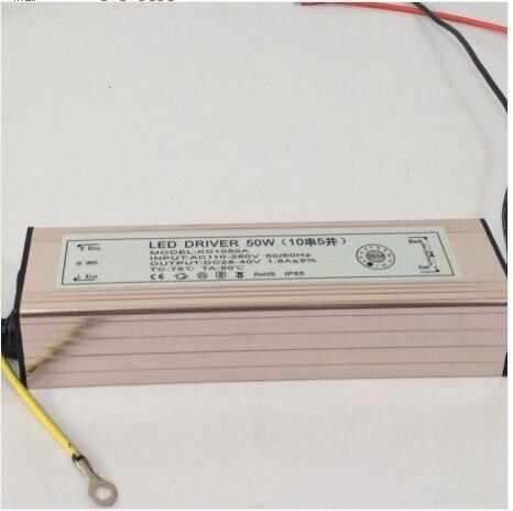 2 шт. 2021 50 Вт Водонепроницаемый Интегрированный Светодиодный драйвер Питание постоянный ток AC110-265V 1500mA светодиодный лампы + 2 годовая гаранти...