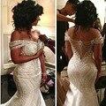 Dubai Long Bridal Gowns Crystals Mermaid robe de mariee vestido de noiva casamento Romantic Bridal Dress gelinlik Off Shoulder