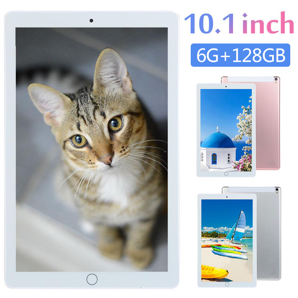 2020 New 10.1 Inch Tablet Pc Android 8.0 Octa Core 6GB+128GB 1280*800 IPS Bluetooth GPS Dual SIM Card 4G Phone Smart Phablet
