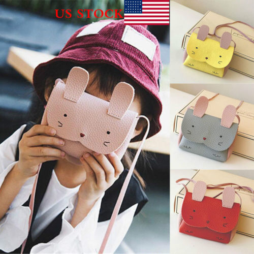 Baby Kids Coin Purses Girls Children Cute Rabbit Mini Small Wallet Coin Shoulder Messenger Bag