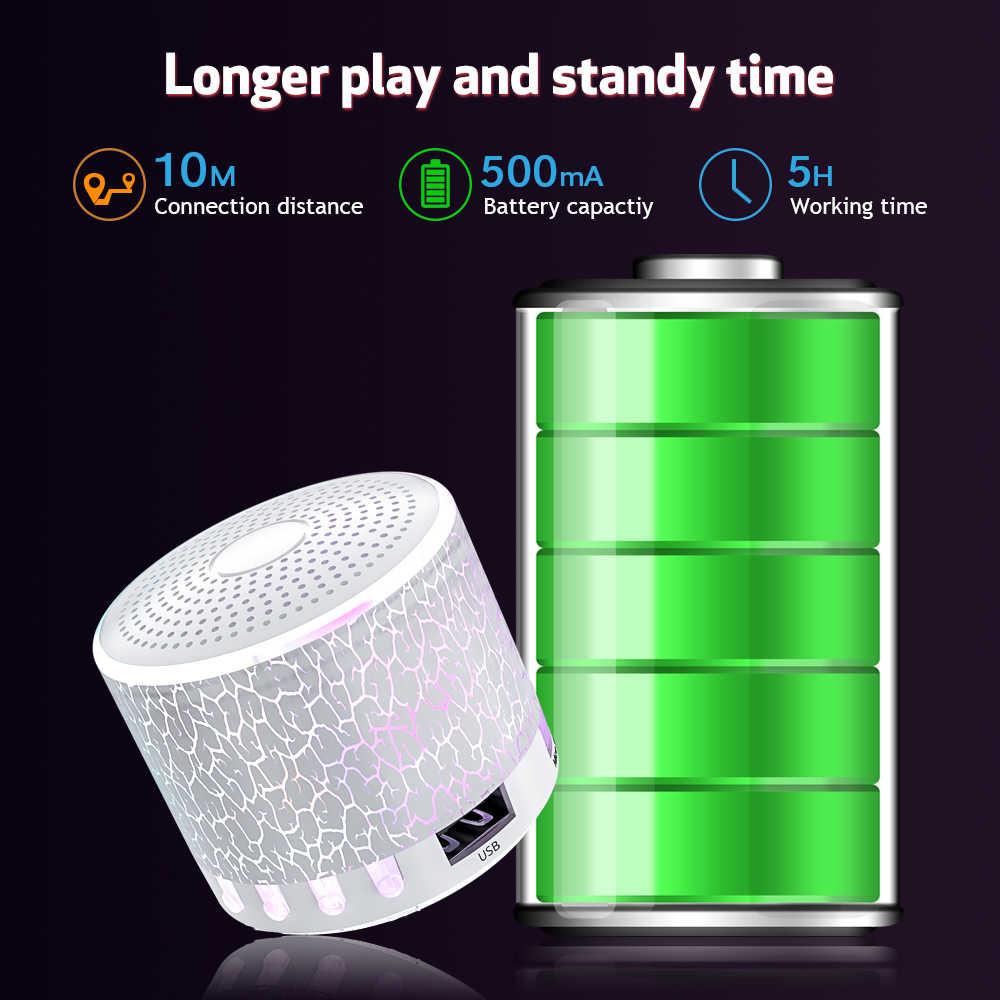 Altavoces Bluetooth portátiles inalámbricos Mini LED Audio música TF USB FM AUX altavoz de sonido estéreo para teléfono Xiaomi columna de ordenador