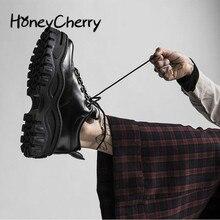 2020 ربيع الخريف جديد الراقية النساء أحذية سميكة سوليد كعكة الإسفنج الأسود القبيح أحذية ضئيلة أحذية منصة غير رسمية النساء أحذية رياضية