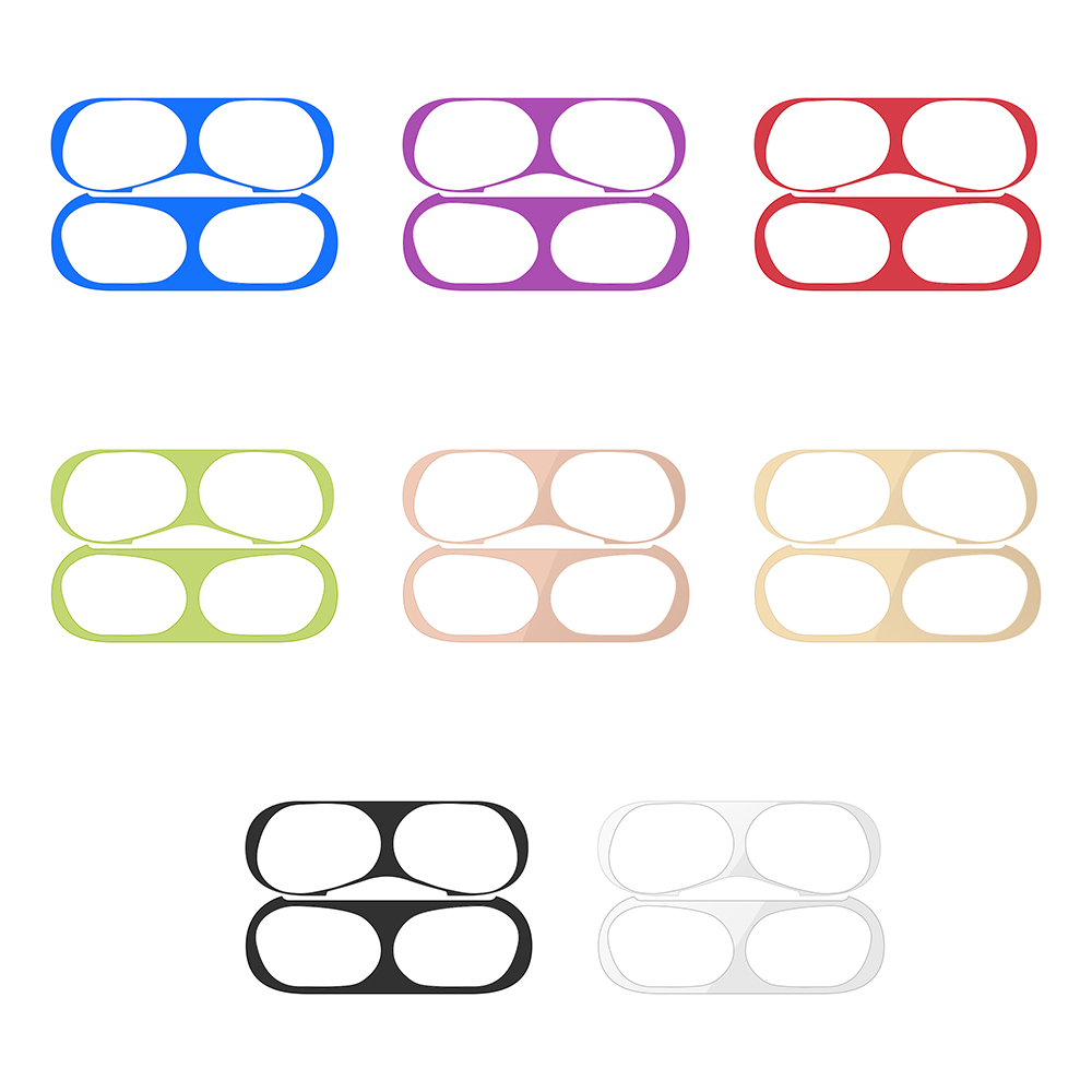 1 Set Ultra Thin Skin Protective Cover Metal Film Sticker For Airpods Pro Dust Guard Protective Sticker For AirPods Pro 2019