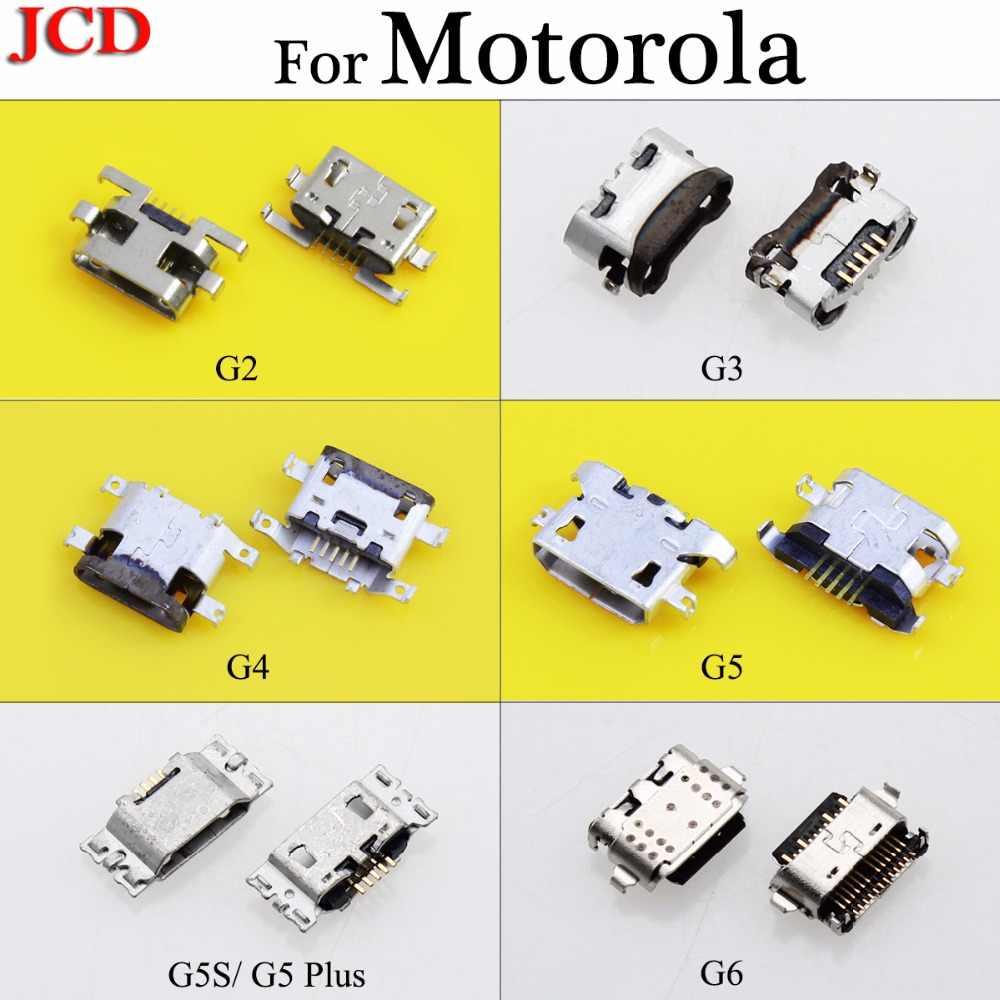 JCD 5pcs ใหม่สำหรับ Motorola G3 G4 G5 G5S G5 Plus G6 Micro USB Jack หญิง 5 ขาซ็อกเก็ตชาร์จสำหรับ Motorola Moto G2 G + 1